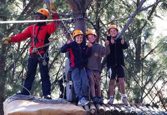 School Adventure Challenge Zip Line